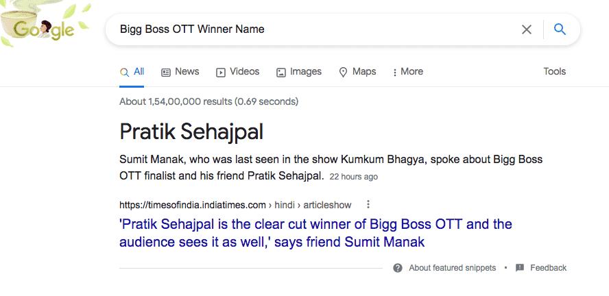 Bigg Boss OTT Winner Name